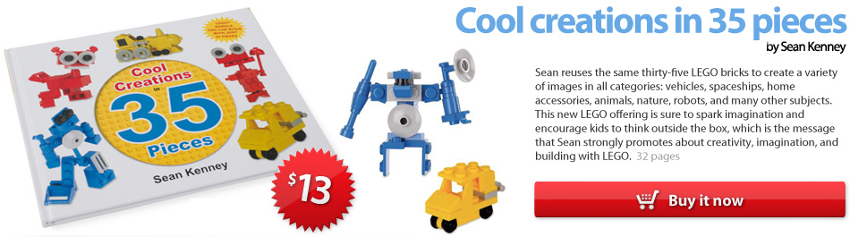 Cool Creations in 35 pieces, the LEGO book by Sean Kenney