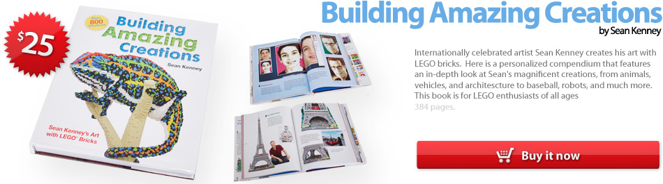 Building Amazing Creations, a behind the scenes book of LEGO creations by Sean Kenney