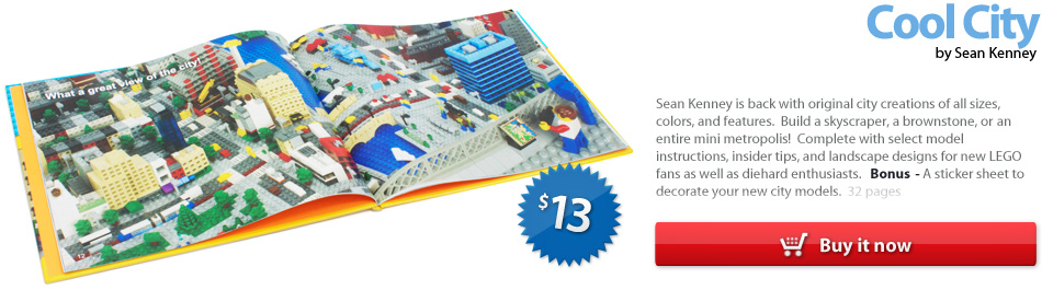 a LEGO idea book : Cool City, by Sean Kenney (2011)