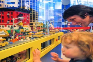 LEGO city at FAO Schwarz, New York