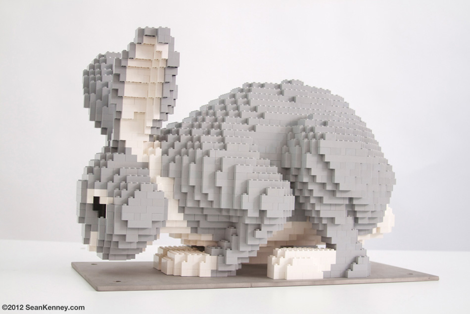 Sean Kenney Art With Lego Bricks Fox And Rabbits Rabbit