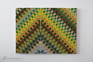 Original LEGO wall art, geometric murals
