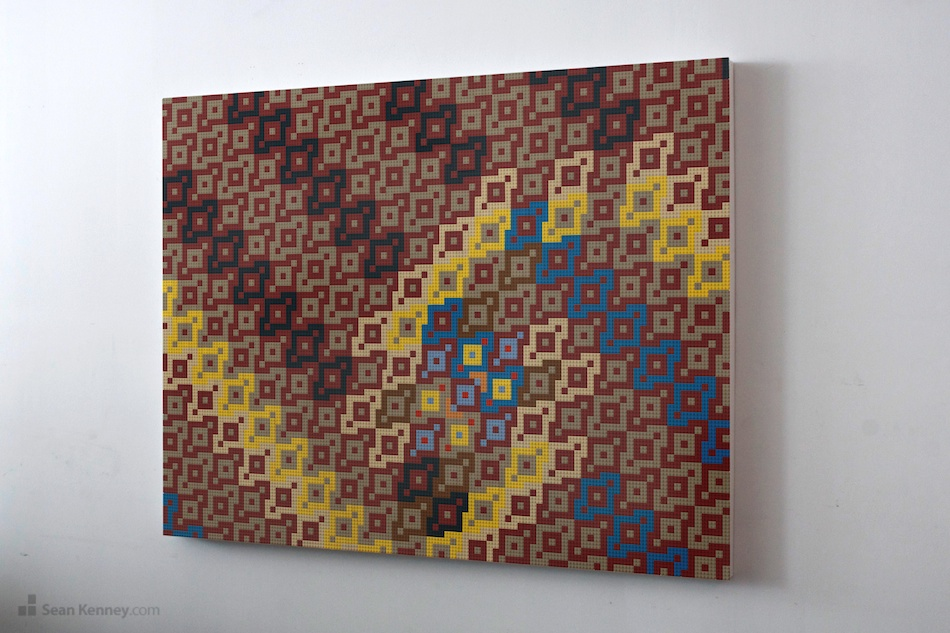 LEGO mural : Sean Kenney Design : Original artwork with LEGO bricks