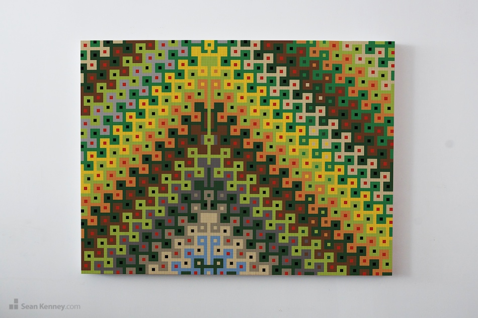 Wall art, built with LEGO bricks from Sean Kenney