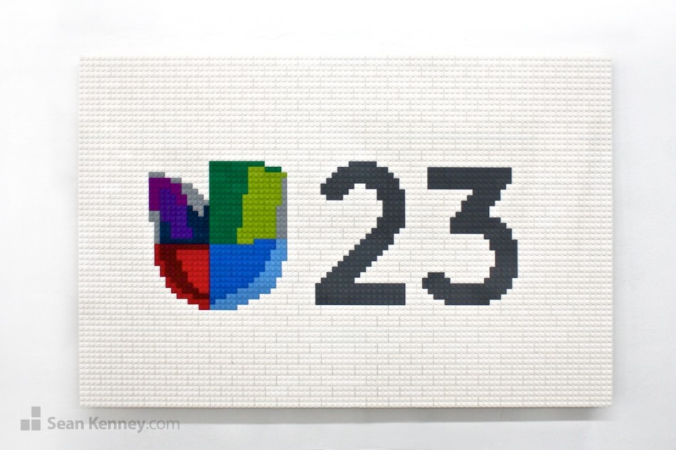 Univision-23-logo LEGO art by Sean Kenney