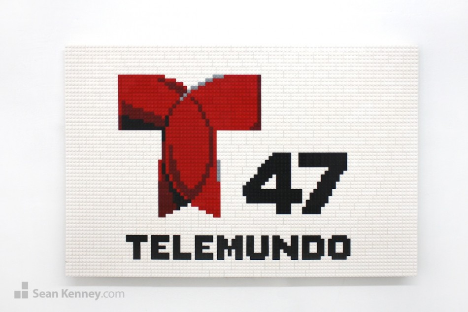 Telemundo-47-logo-2 LEGO art by Sean Kenney