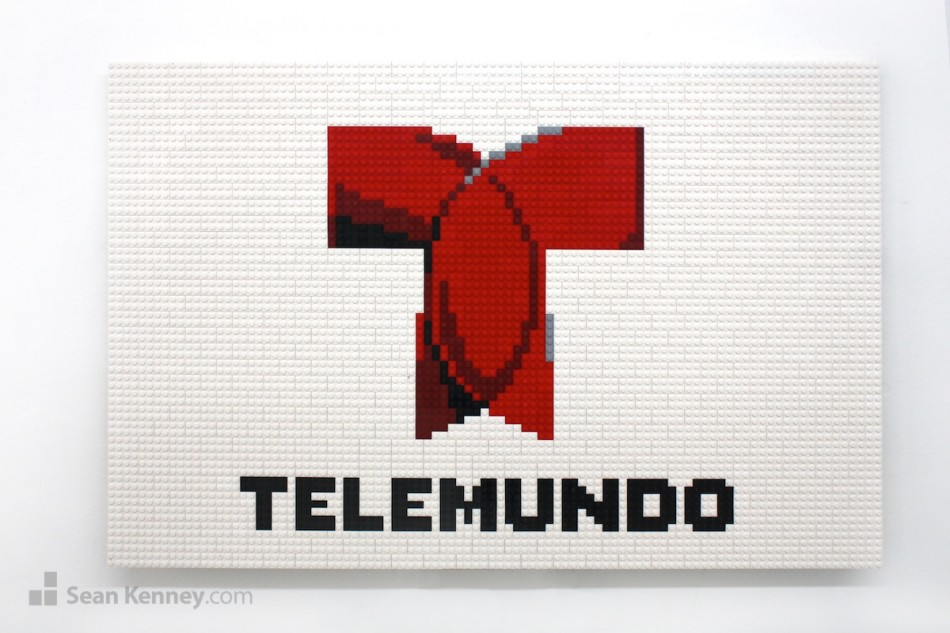 Telemundo-logo LEGO art by Sean Kenney