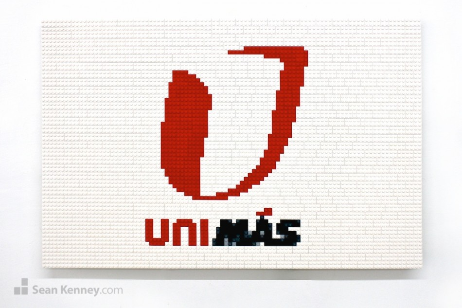 Unimas-logo-2 LEGO art by Sean Kenney