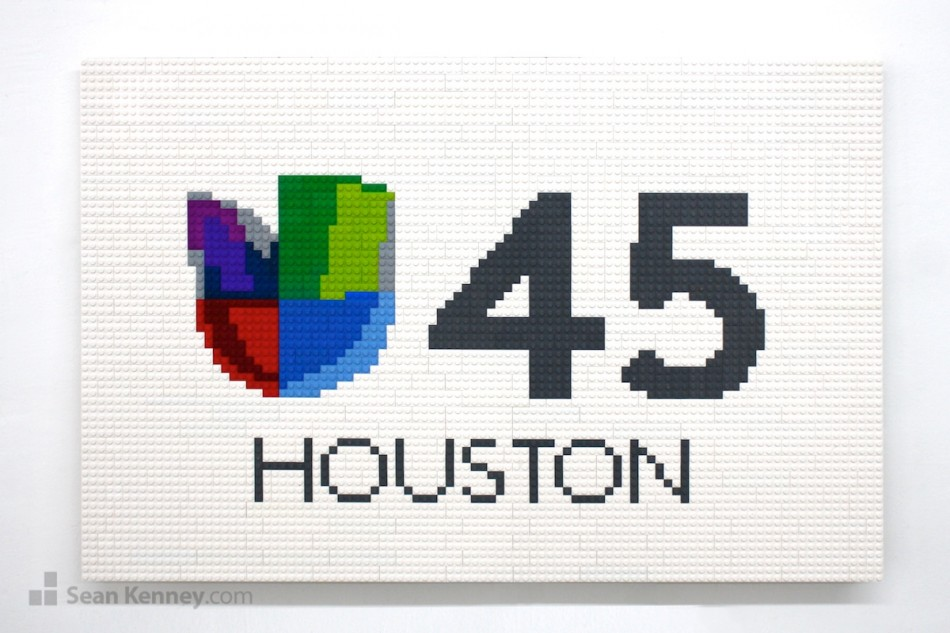 Univision-45-houston-logo LEGO art by Sean Kenney
