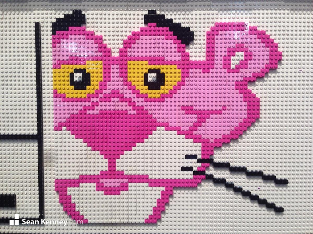 Sean Kenney Art With Lego Bricks Pink Panther