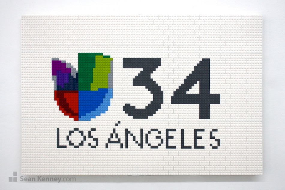 Univision-34-los-angeles-logo LEGO art by Sean Kenney