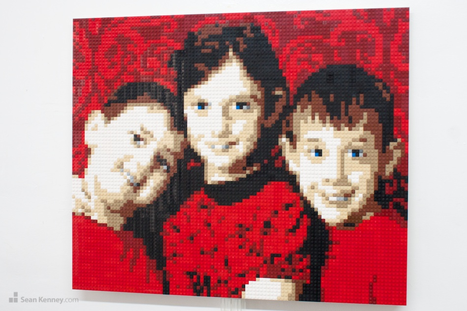 Red-family LEGO art by Sean Kenney