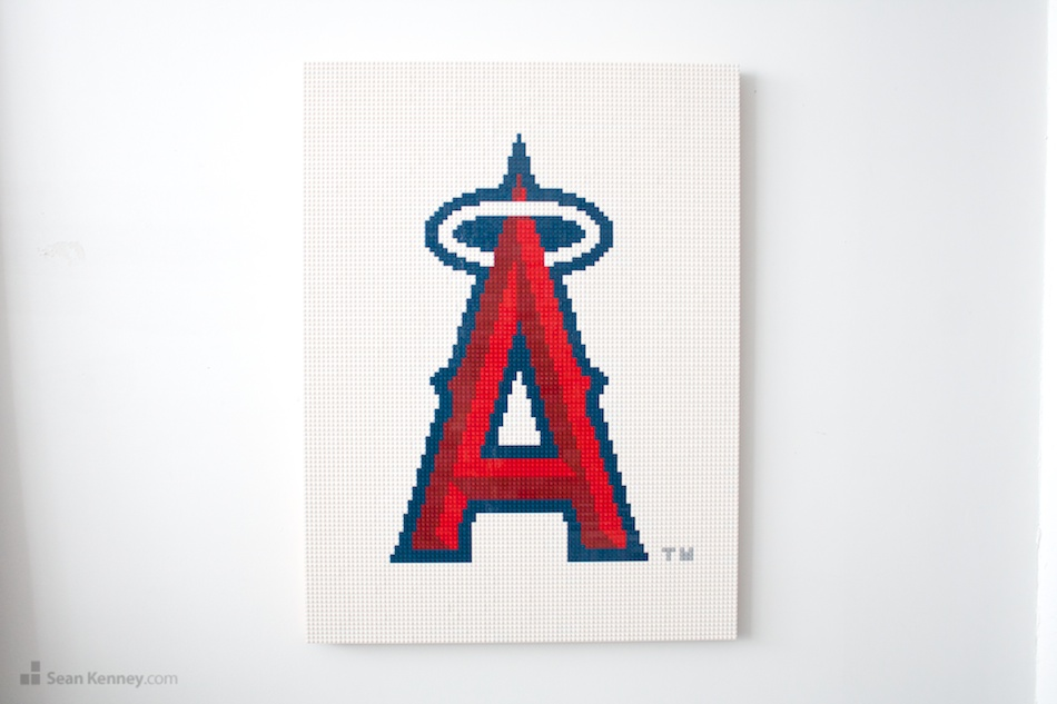 Angels-logo LEGO art by Sean Kenney