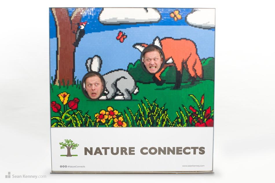 Fox-hunting-rabbit LEGO art by Sean Kenney