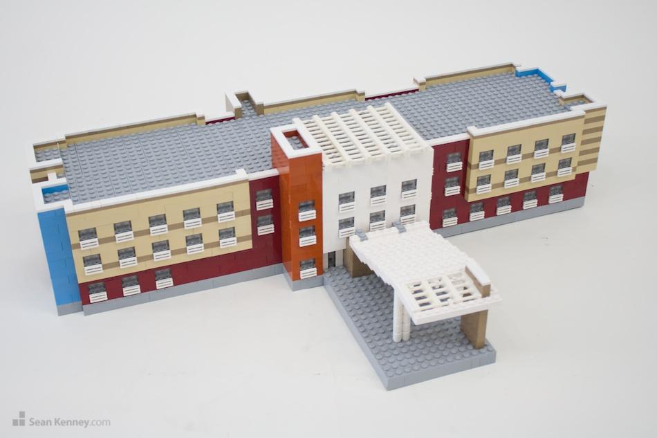 Elmira-marriott LEGO art by Sean Kenney
