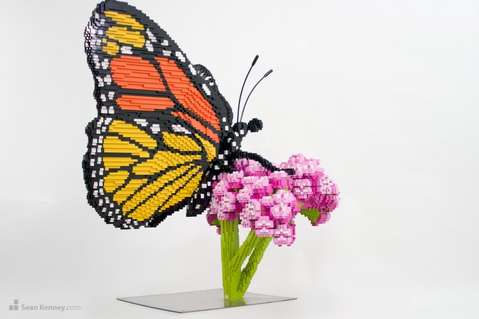 Monarch LEGO art by Sean Kenney