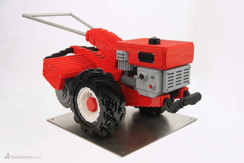 Roto-tiller LEGO art by Sean Kenney