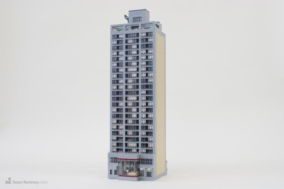 Midtown-manhattan-marriott LEGO art by Sean Kenney
