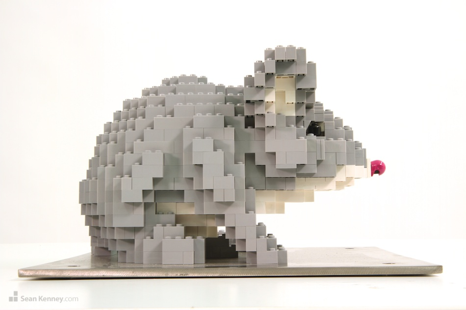 Mouse LEGO art by Sean Kenney