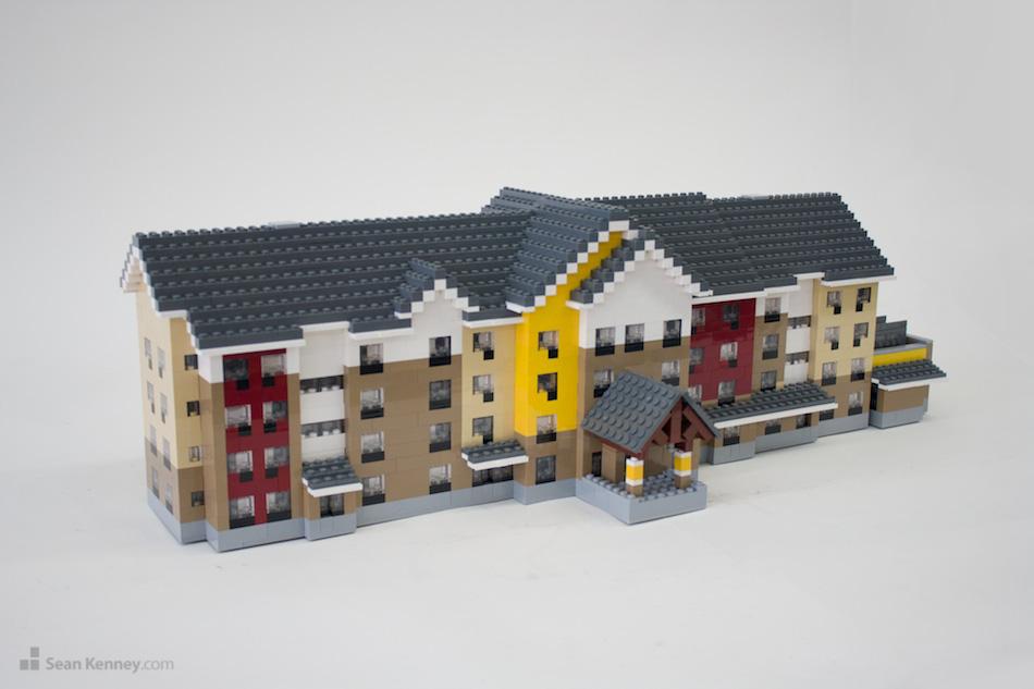 Saginaw-marriott LEGO art by Sean Kenney