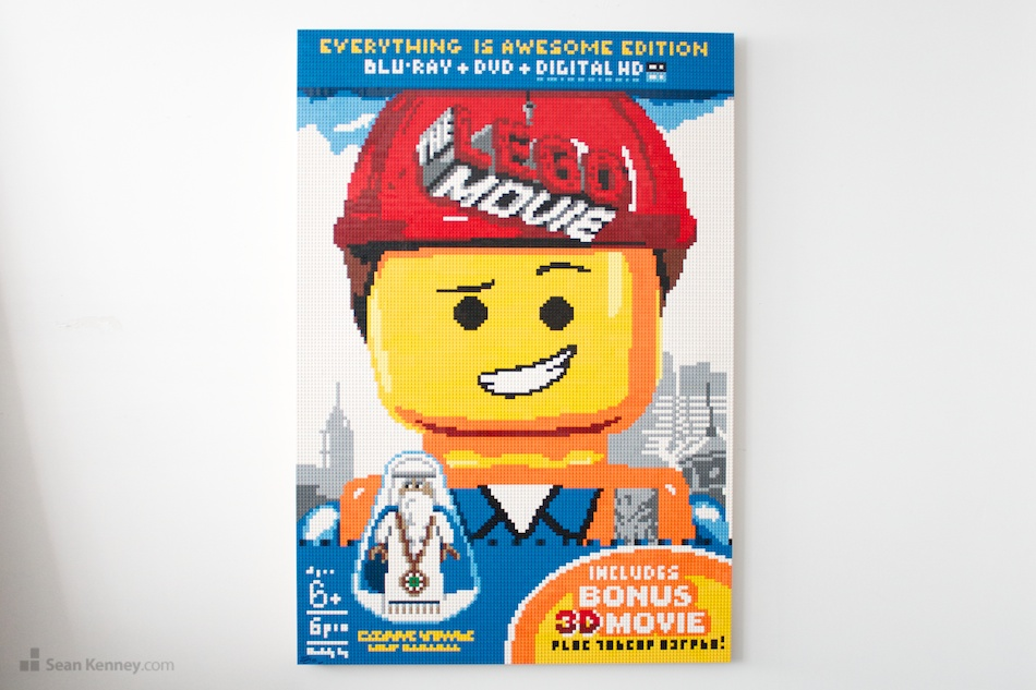 The-lego-movie-dvd LEGO art by Sean Kenney