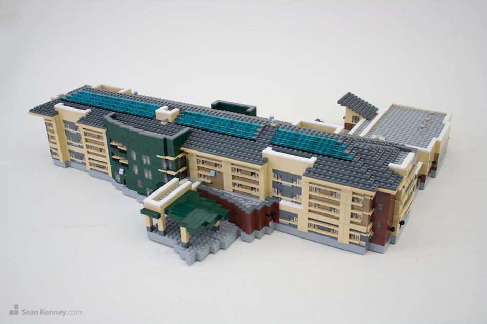 Mankato-marriott LEGO art by Sean Kenney