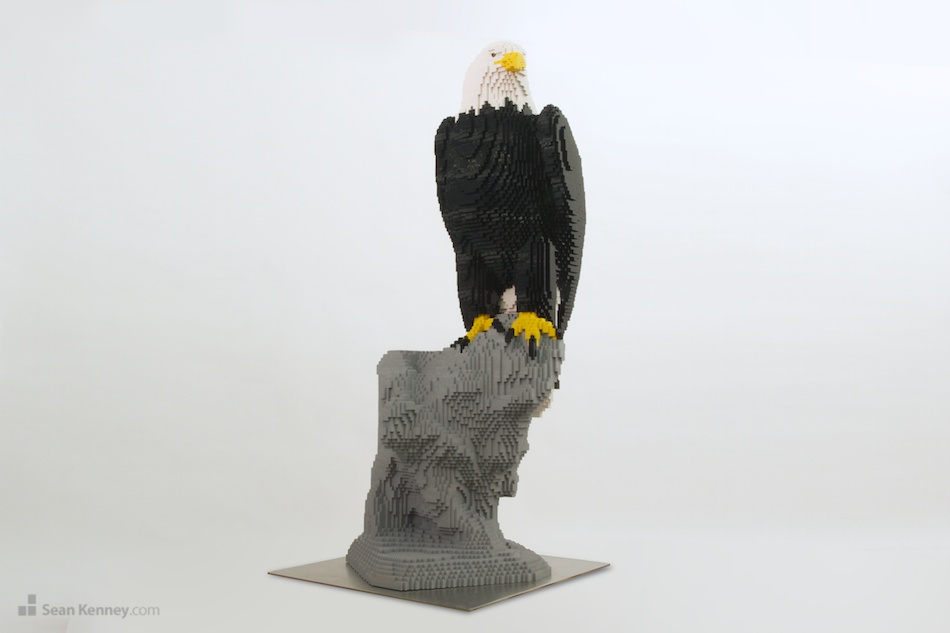 Eagle LEGO art by Sean Kenney