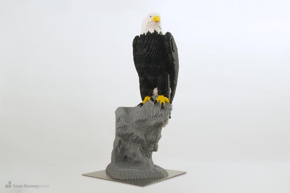 Eagle LEGO art by Sean Kenney