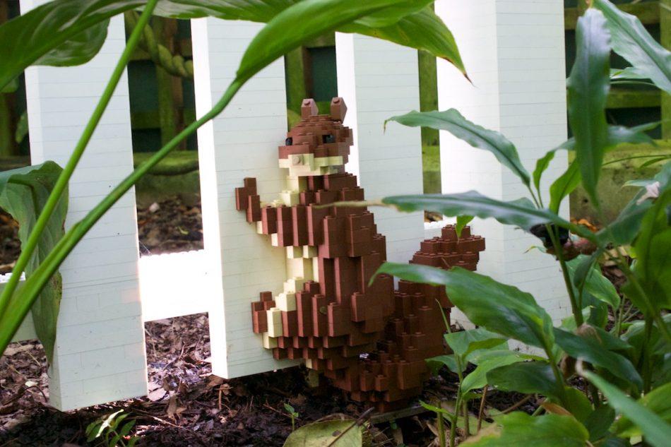 Birds-vs-squirrels LEGO art by Sean Kenney