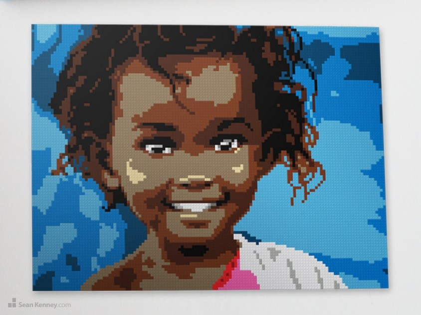 Innocent-jubilance LEGO art by Sean Kenney