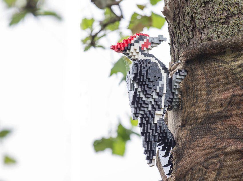 Woodpecker LEGO art by Sean Kenney