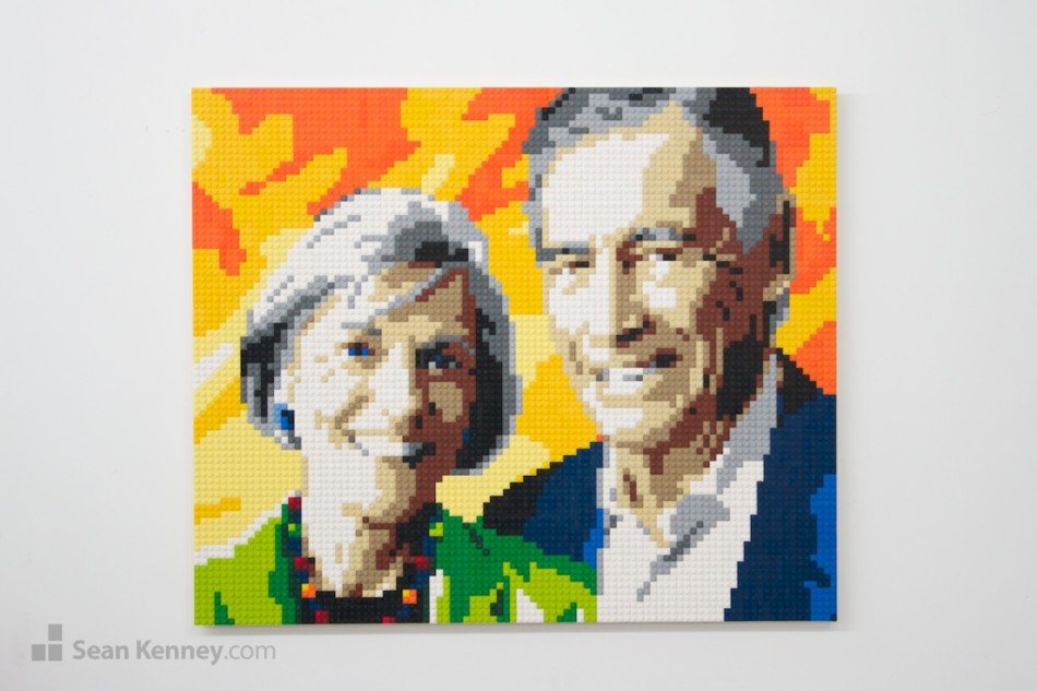 Happy-couple-after-all-these-years LEGO art by Sean Kenney