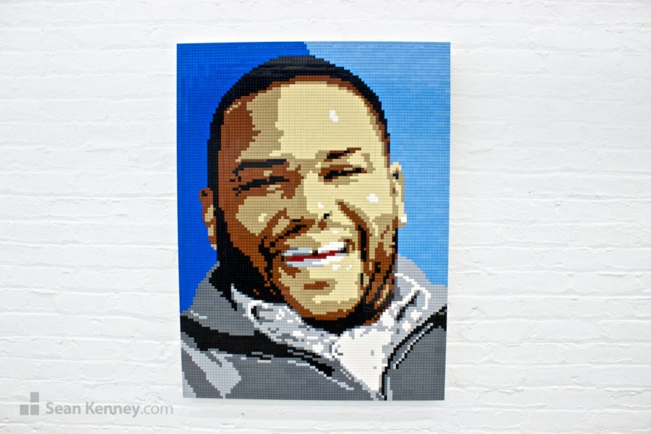 Anthony-anderson LEGO art by Sean Kenney