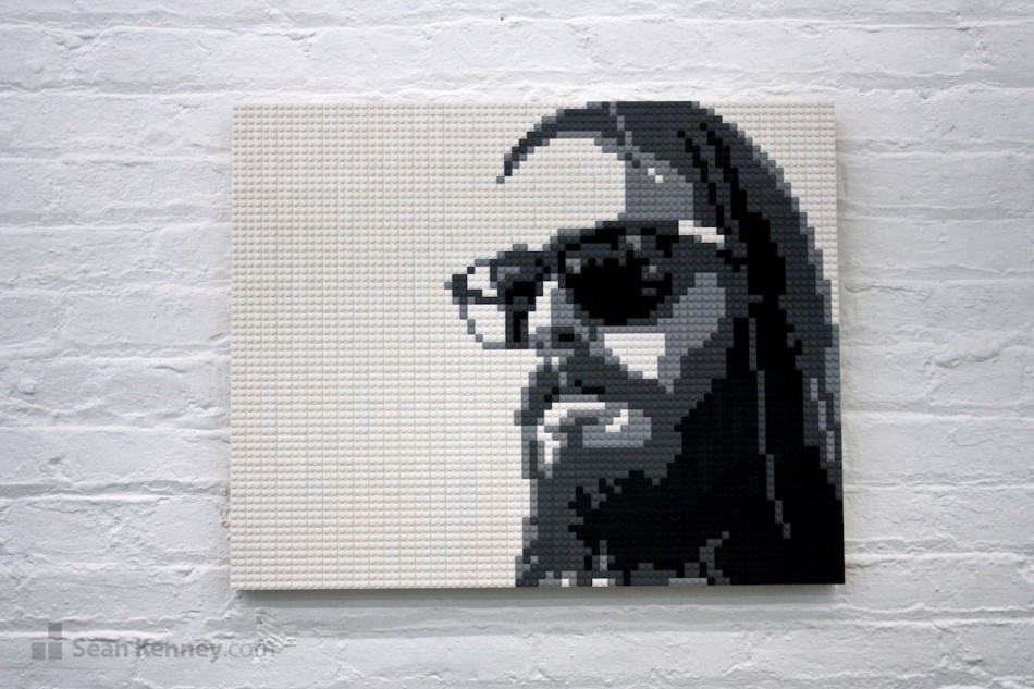 Cool-dude LEGO art by Sean Kenney