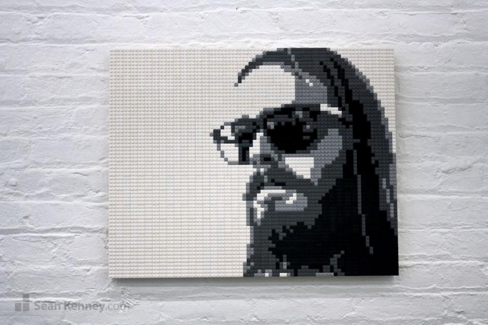 Cool-dude LEGO art by Sean Kenney
