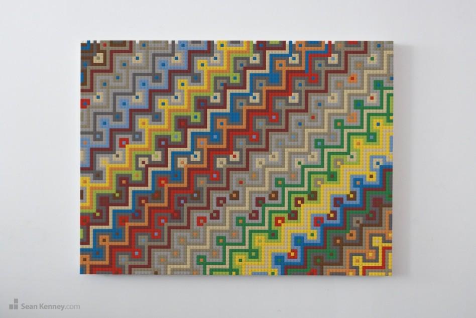 Wall-art-topaz LEGO art by Sean Kenney