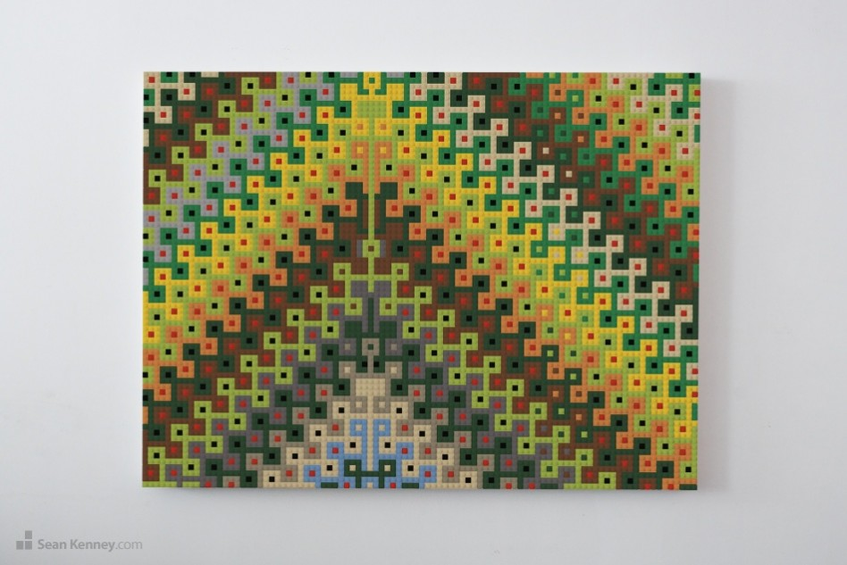 Wall-art-amber LEGO art by Sean Kenney