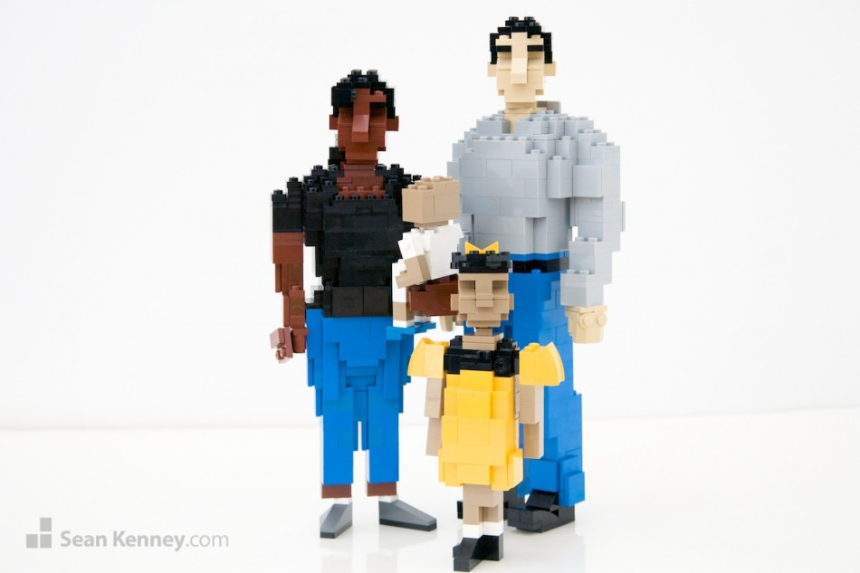 Parents LEGO art by Sean Kenney