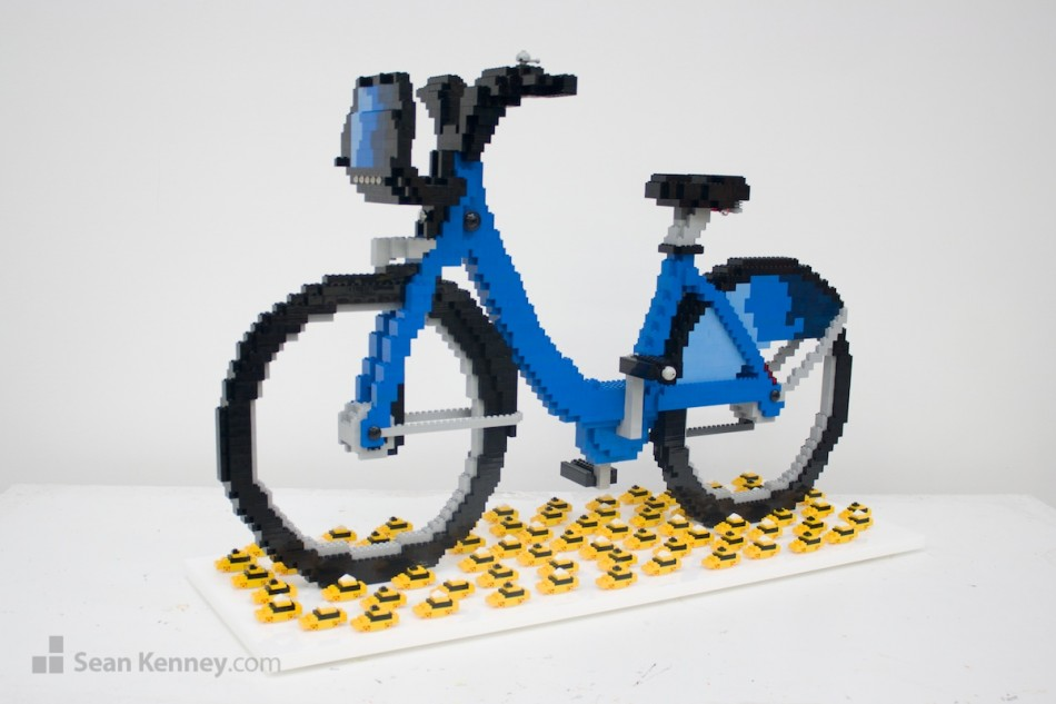 New-york-city-bike-share-the-new-taxi LEGO art by Sean Kenney