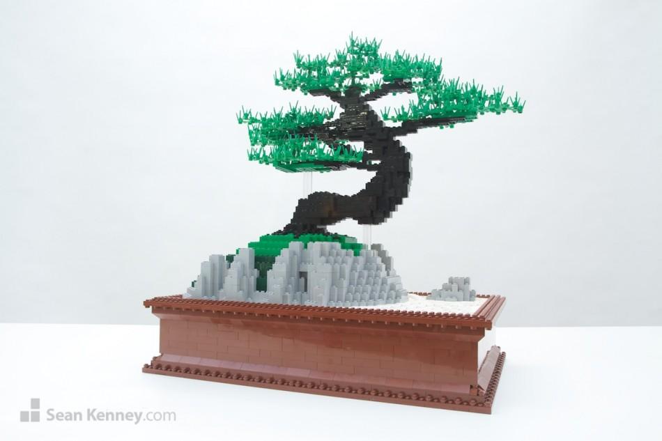 Bonsai LEGO art by Sean Kenney