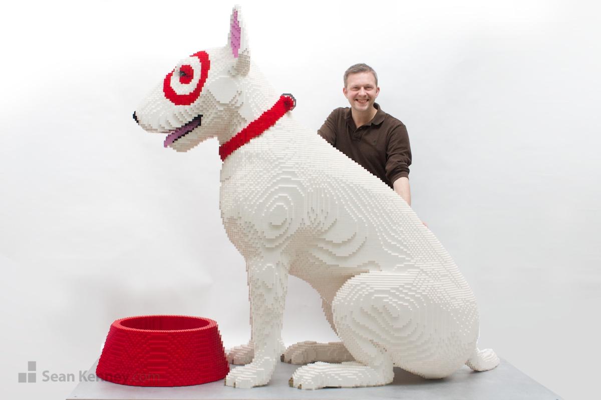 Sean Kenney U0026 39 S Art With Lego Bricks   Bullseye The Target Dog