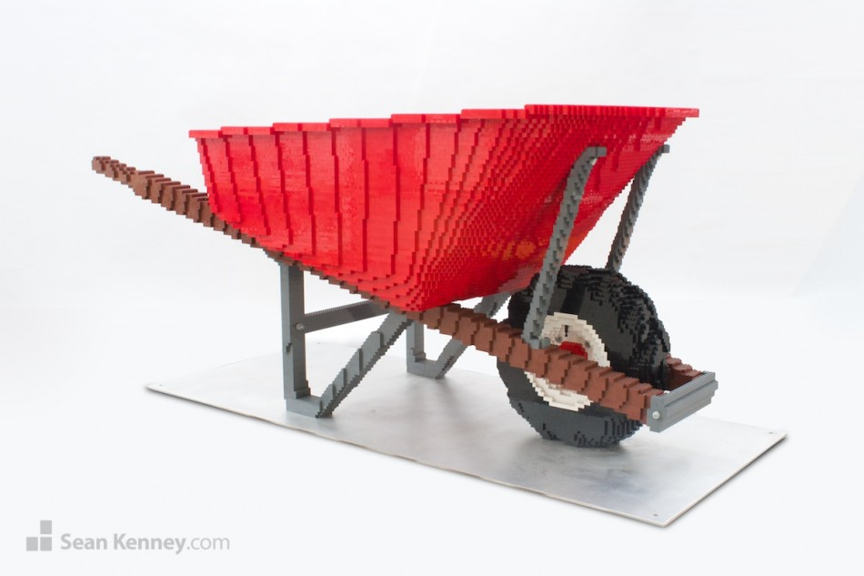 Wheelbarrow LEGO art by Sean Kenney