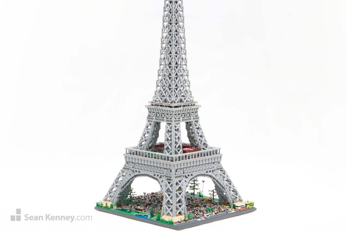 sean kenney art with lego bricks eiffel tower. Black Bedroom Furniture Sets. Home Design Ideas