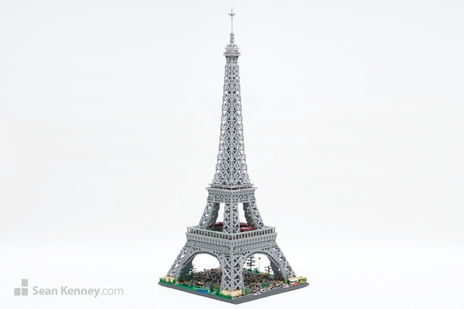 Eiffel-tower LEGO art by Sean Kenney