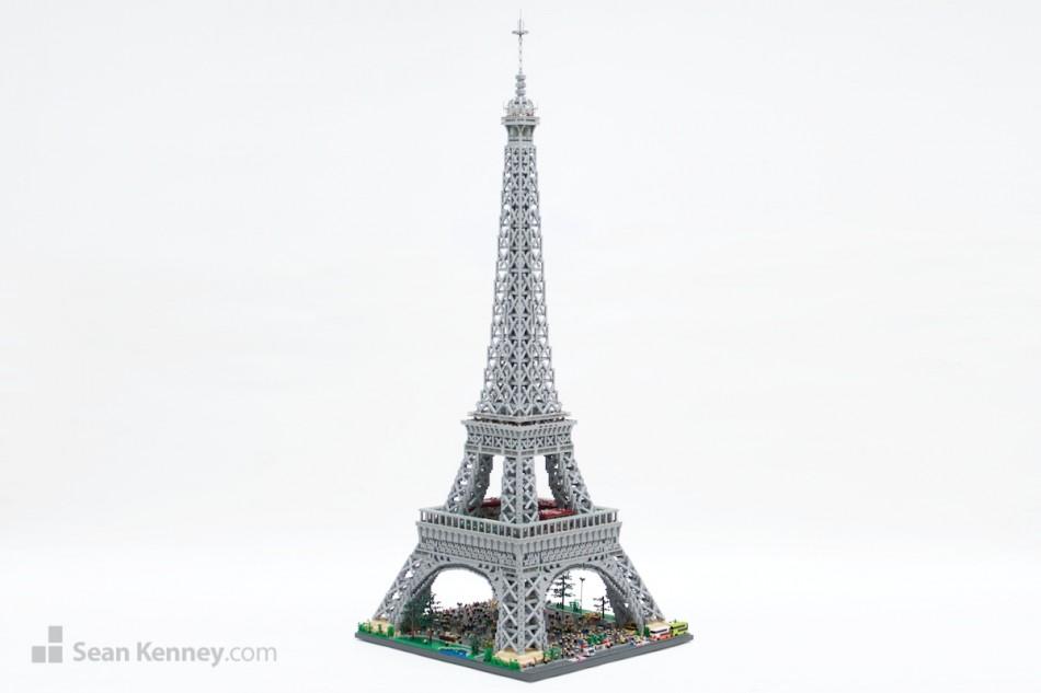 Eiffel-tower LEGO art by Sean Kenney