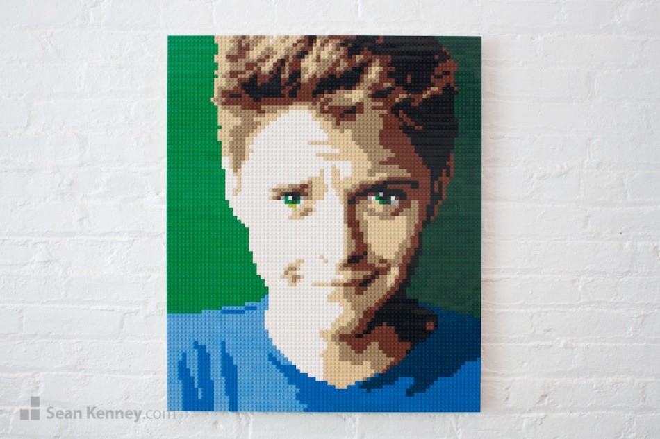 Eyebrow-raised LEGO art by Sean Kenney