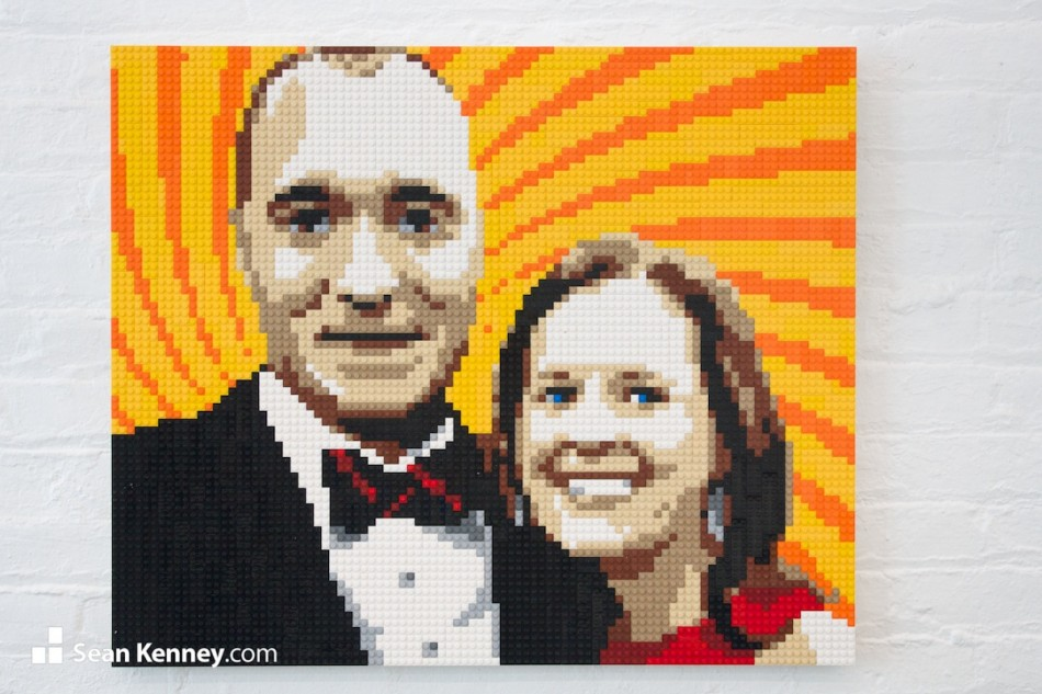 Classy-couple LEGO art by Sean Kenney