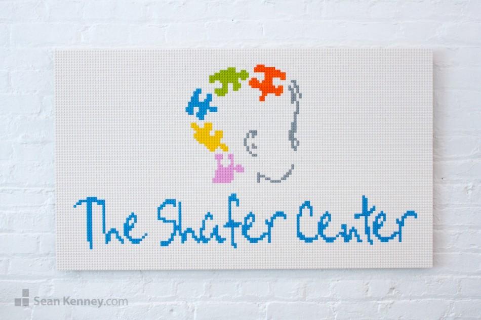 The-shafer-center-logo LEGO art by Sean Kenney