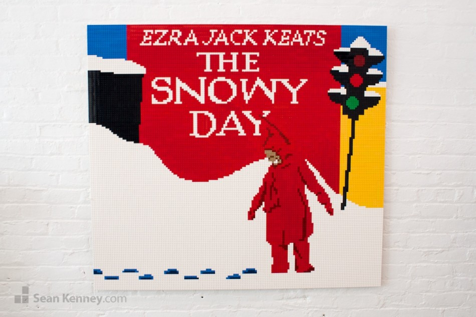 The-snowy-day-by-erza-jack-keats LEGO art by Sean Kenney