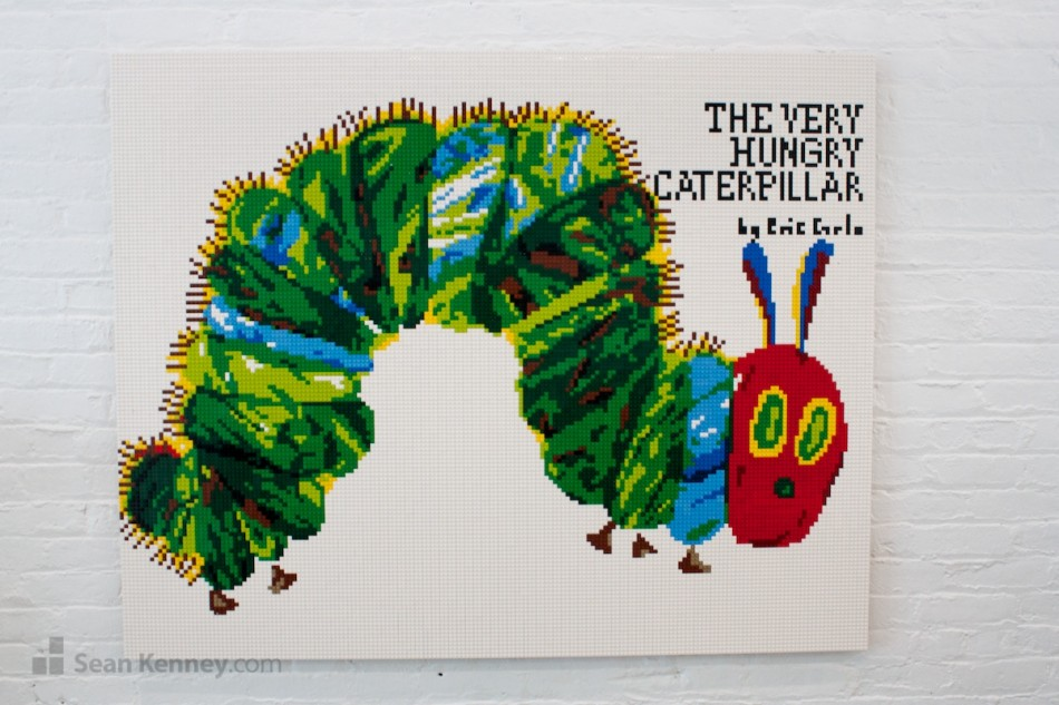 The-very-hungry-caterpillar LEGO art by Sean Kenney